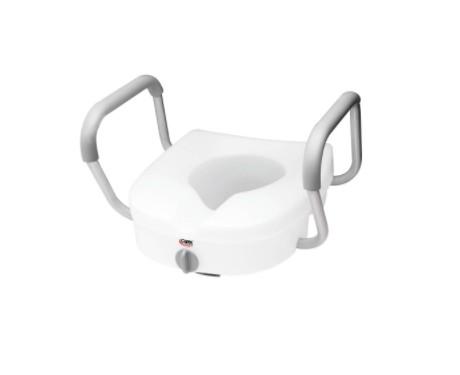 Siège de toilette surélevé avec appui-bras ajustables E-Z Lock Carex