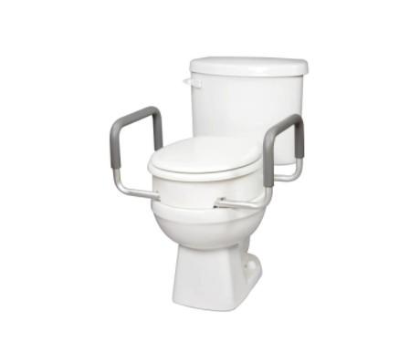Siège de toilette surélevé standard avec poignées Carex