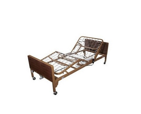 Electric bed with foam mattress and sides