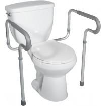 Adjustable toilet safety rests