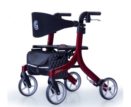Airgo® eXcursion™ Lightweight Side-fold Rollator - Cranberry