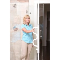 Security Pole and Curved Grab Bar 1100