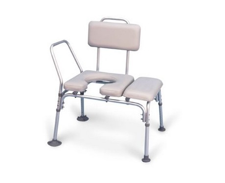 Padded Transfer Bench With Commode Opening La Maison