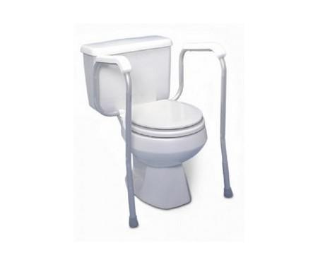 Barre d'appui ajustable pour toilette, avec pattes