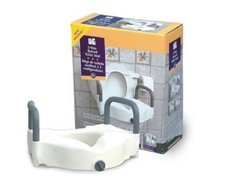 Siège de toilette surélevé à 3 configurations