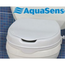 Raised toilet seat with lid 2""