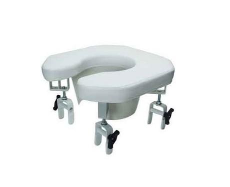 Siège de toilette rembourré ouvert Lumex