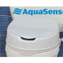 AquaSense® raised toilet seat with lid 4""