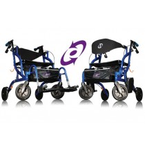 Airgo® Fusion™ Side-Folding Rollator & Transport Chair Pacific Blue