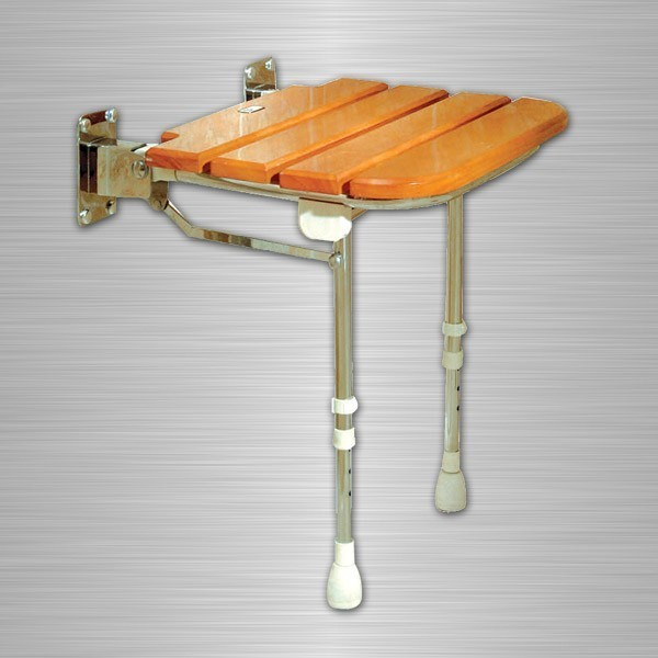 Banc de douche rabattable en bois la maison andr viger for Banc de table en bois