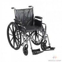 Chrome Sport Wheelchair 16''