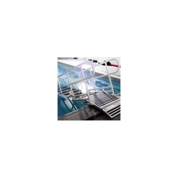 Rampe d 39 acces pour la piscine la maison andr viger - Peroxyde d hydrogene pour piscine ...