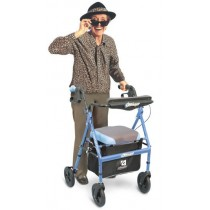 Airgo Comfort-Plus Lightweight Rollator - Indigo Blue
