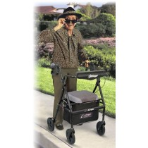 Airgo Comfort-Plus Lightweight Rollator - Black Pearl